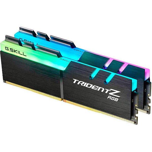 Memória Ram P/ Desktop 16GB DDR4 CL15 2400 Mhz (2X8GB) G.SKILL TRIDENT Z  RGB- F4-2400C15D-16GTZRX