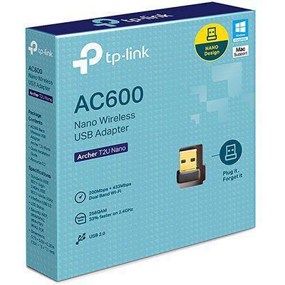 Adaptador wireless Dual Band nano usb AC 600Mbps T2UNANO Tp Link