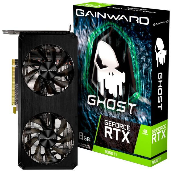 Placa de Vídeo GPU GEFORCE RTX 3060TI GHOST 8GB GDDR5 256 Bits GAINWARD NE6306T019P2-190AB