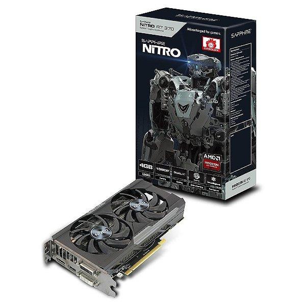 Placa de Vídeo ATI Radeon R7 370 OC - 4gb DDR5 - 256 Bits Saphire Nitro Dual-X