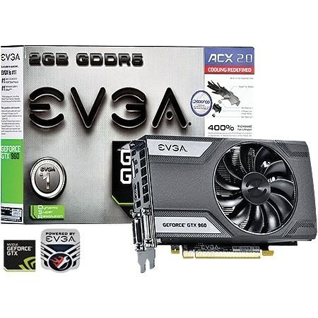 Placa de Vídeo Geforce GTX 960 - 2gb DDR5 - 128 Bits EVGA  02G-P4-2961-KR