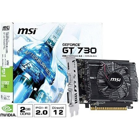 Placa de Vídeo Geforce GT 730 - 2gb DDR3 - 128 Bits MSI N730-2GD3