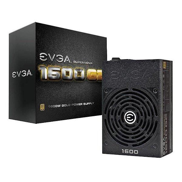 Fonte ATX 1600 Watts Potência Real Bivolt, PFC Ativo, FULL Modular, EVGA - 120-G2-1600-X1 - 80 Plus GOLD