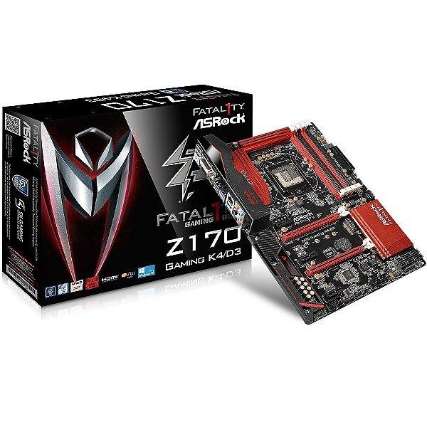 Placa Mãe ASROCK Z170 Fatal1ty Gaming K4/D3 LGA 1151