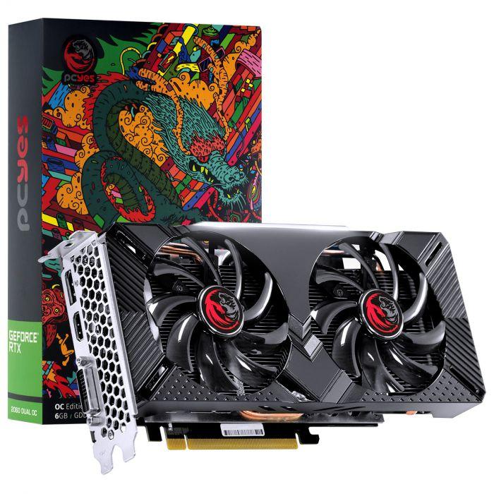 Placa de Vídeo GPU GEFORCE RTX 2060 OC 6GB GDDR6 - 192 BITS PCYES DUAL-FAN GRAFFITI SERIES - PPGF2060DR6192