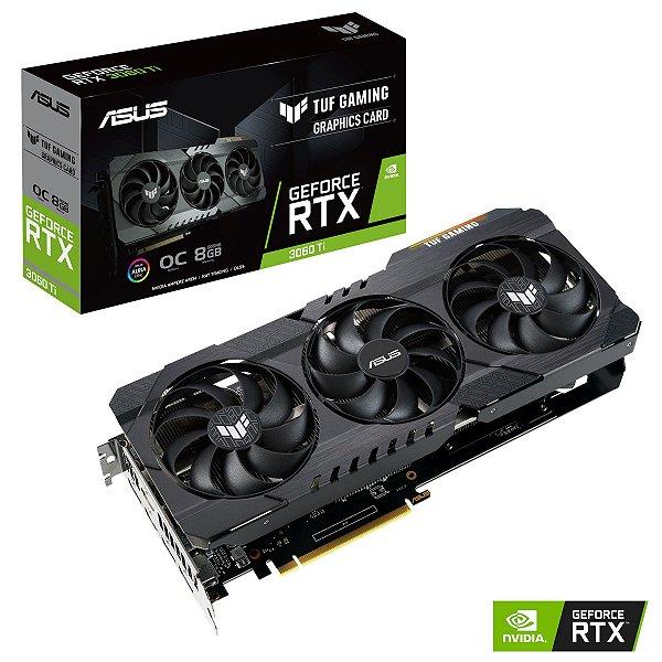 Placa de Vídeo GPU GEFORCE RTX 3060TI OC 8GB GDDR6 - ASUS TUF-RTX3060TI-O8G-GAMING