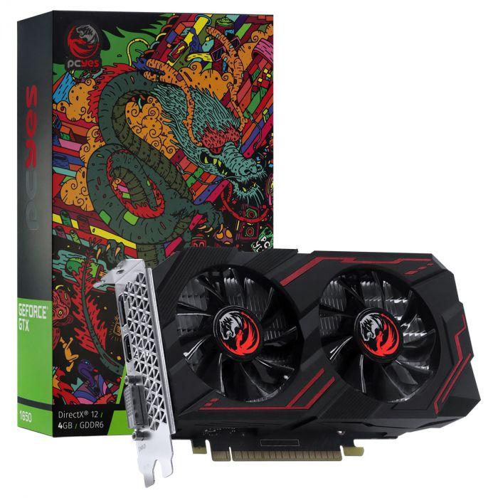 Placa de Vídeo GPU GEFORCE GTX 1650 4GB GDDR5 - 128 BITS PCYES - PA1650412820DR6