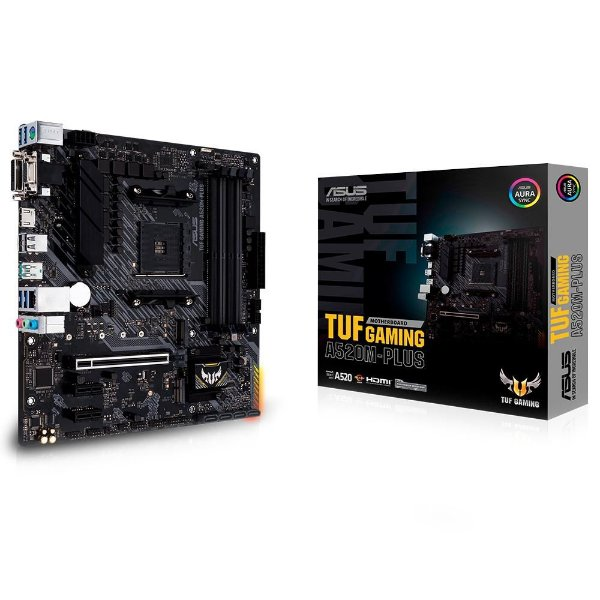 Placa Mãe ASUS TUF CHIPSET AMD A520M-PLUS GAMING SOCKET AM4