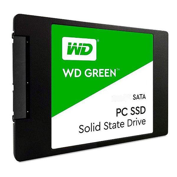 SSD Western Digital Green, 1TB, SATA, Leitura 545MB/s, Gravação 430MB/s - WDS100T2G0A