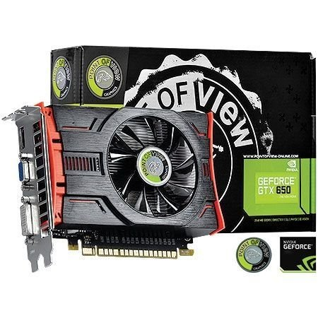 Placa de Vídeo Geforce GTX 650 - 2gb DDR5 - 128 Bits Point of View VGA-650-A1-2048