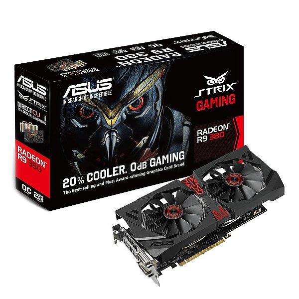 Placa de Vídeo AMD Radeon R9 380 Strix Gaming 4gb DDR5 - 256 Bits ASUS