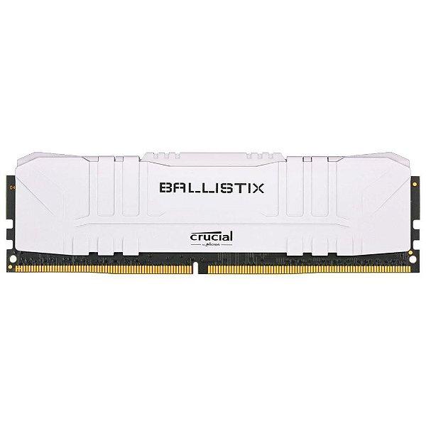 Memória Crucial Ballistix 8GB 3000 Mhz DDR4 CL15 White - BL8G30C15U4W (1X8GB)
