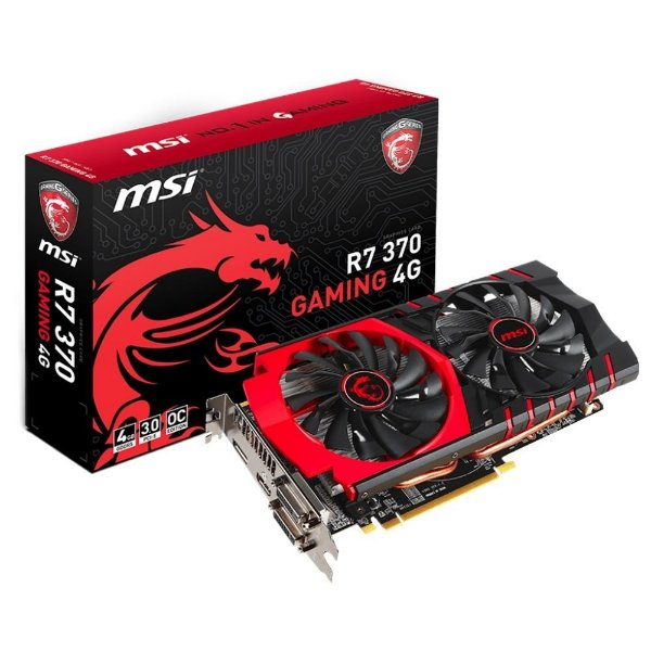 Placa de Vídeo AMD Radeon R7 370 OC 4gb DDR5 - 256 Bits MSI Gaming