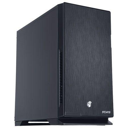 Gabinete Mid Tower PCYES Jaguar Black C/ 3 Fan, USB 3.0, Leitor de Cartões