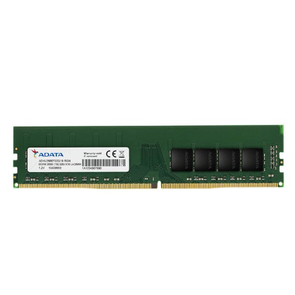 Memória Ram P/ Desktop 16GB DDR4 CL19 2666 Mhz ADATA VALUE - AD4U2666716G19-SGN (1X16GB)