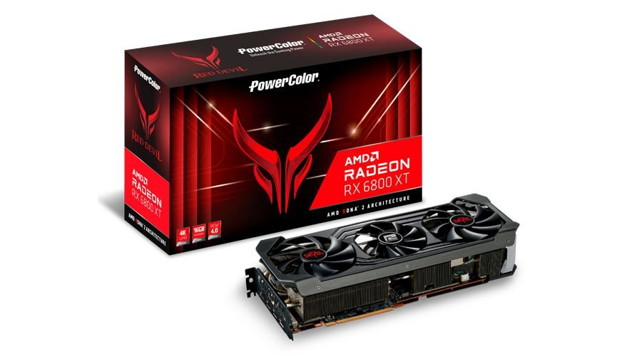 Placa de Vídeo PowerColor Radeon RX 6800 XT Red Devil, 16GB, GDDR6, 256bit, AXRX 6800XT 16GBD6-3DHE/OC