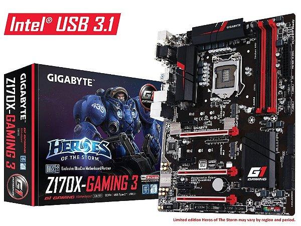 Placa Mãe Gigabyte Z170X Gaming 3 DDR4 LGA 1151