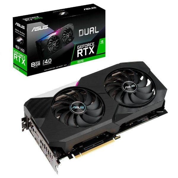 Placa de Vídeo GPU GEFORCE RTX 3070 8GB GDDR6 - 256 BITS ASUS DUAL-RTX3070-8G