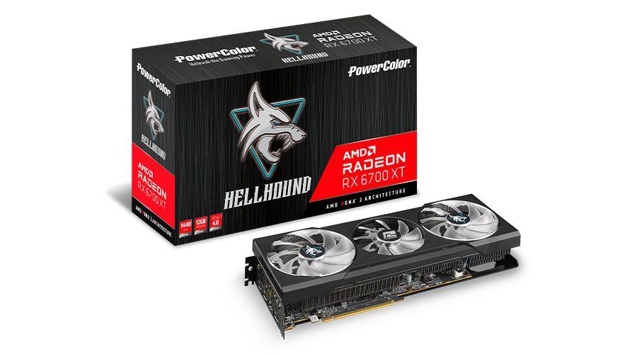 Placa de Vídeo PowerColor Radeon RX 6700 XT Hellhound, 12GB, GDDR6, 192bit, AXRX 6700XT 12GBD6-3DHL