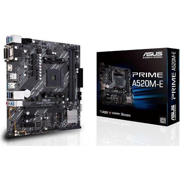 Placa Mãe ASUS PRIME CHIPSET AMD A520M-E SOCKET AM4