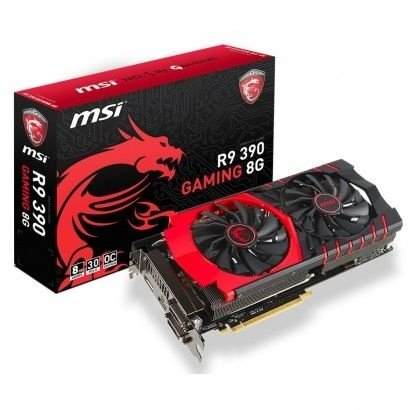 Placa de Vídeo AMD Radeon R9 390 8gb DDR5 - 512 Bits MSI Gaming