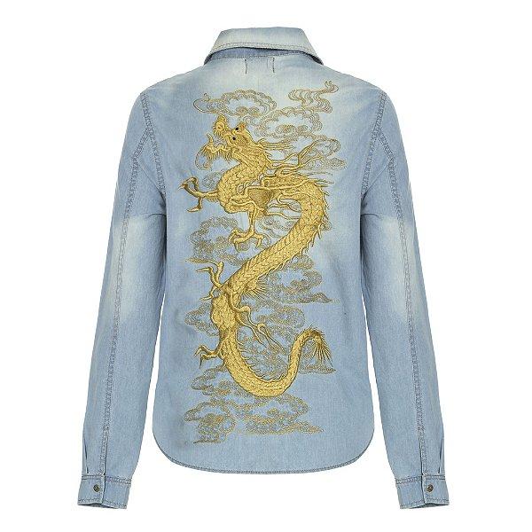 Camisa Jacket Dragão Lavagem Clara