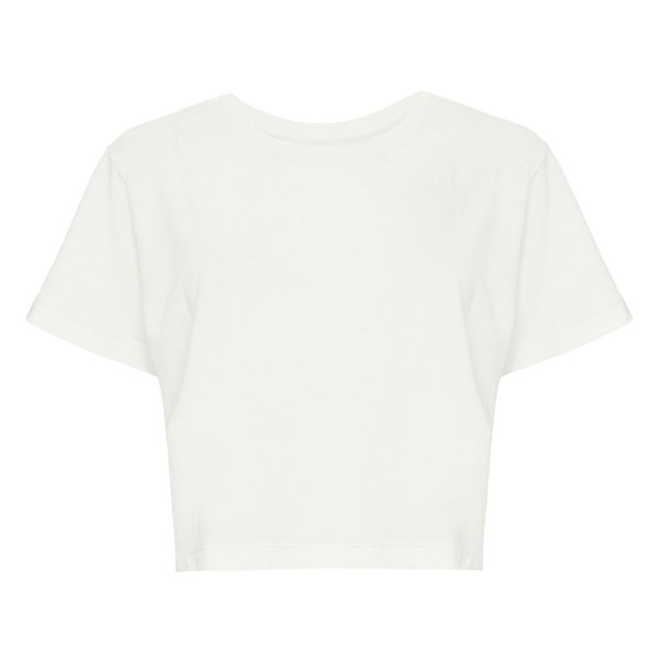 Camiseta Básica Cropped Off White