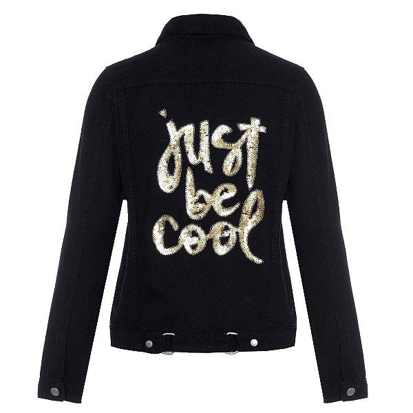 Jaqueta Preta Just Be Cool