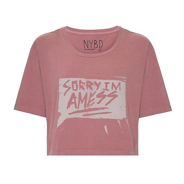 Camiseta Cropped Mess
