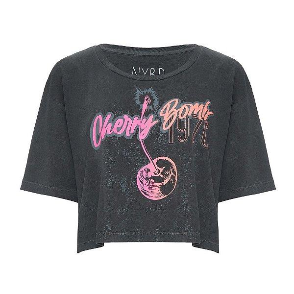 Camiseta Cropped Cherry Bomb