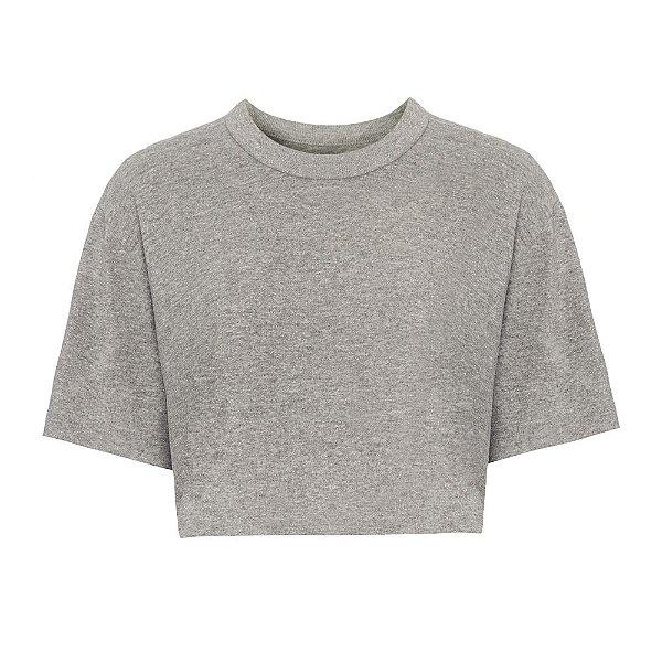 Camiseta Cropped Brilho Mescla