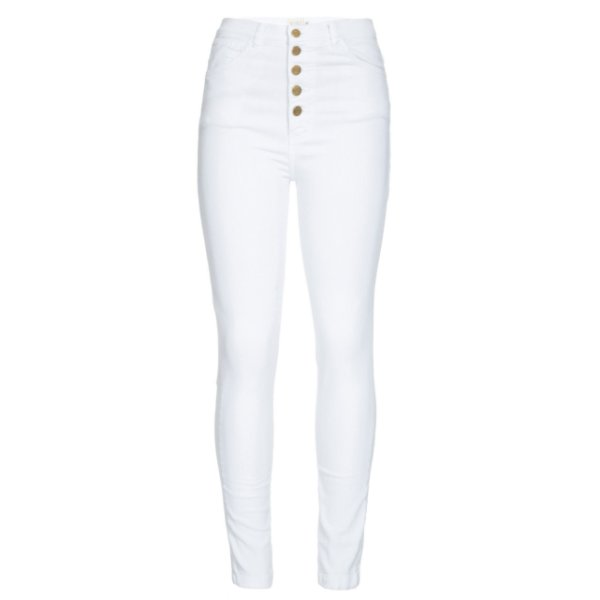 Calça Skinny High Waisted Branca