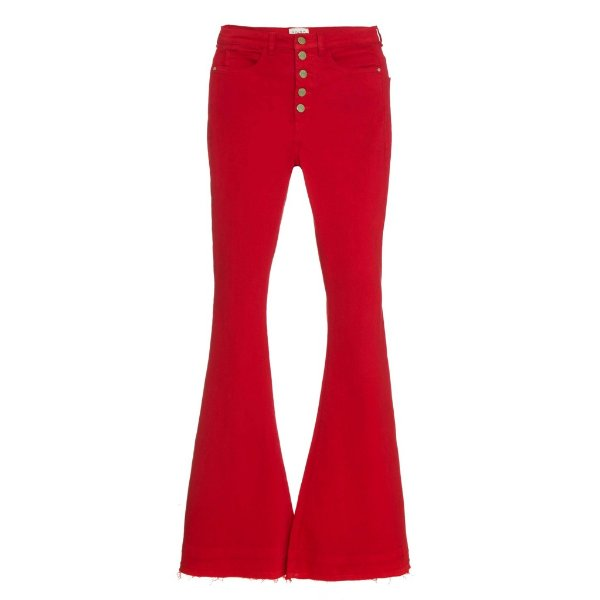 Calça Flare High Waisted Vermelha