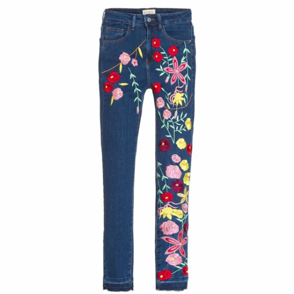 Calça Skinny High Waisted Floral