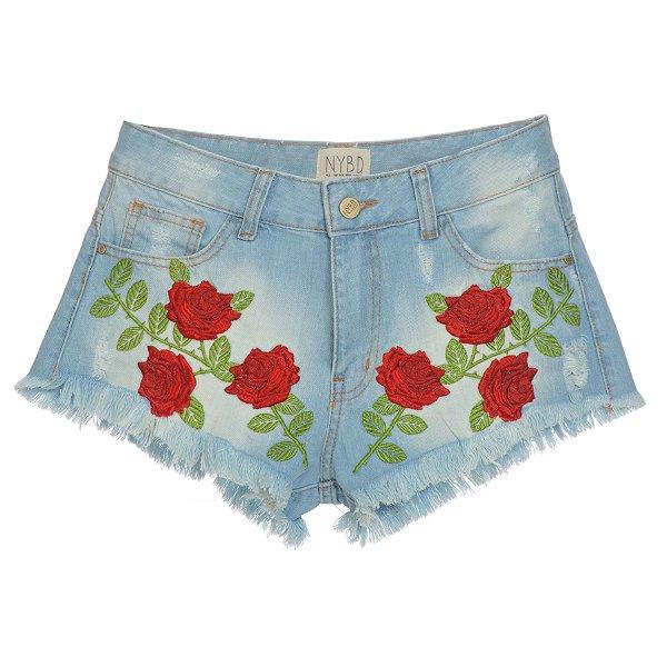 Shorts Rosas Vermelhas