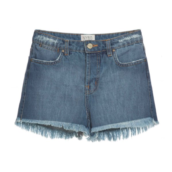 Shorts High Waisted Lavagem Escura