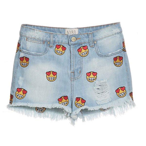 Shorts High Waisted Emoji Mica