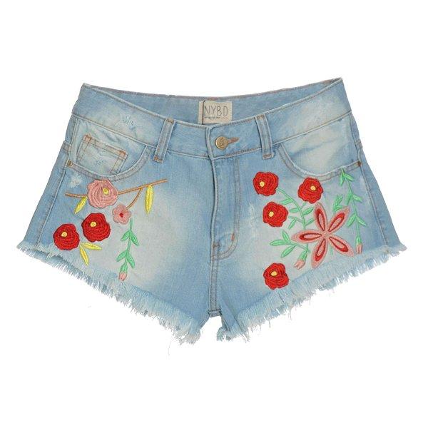 Shorts Flores Coloridas