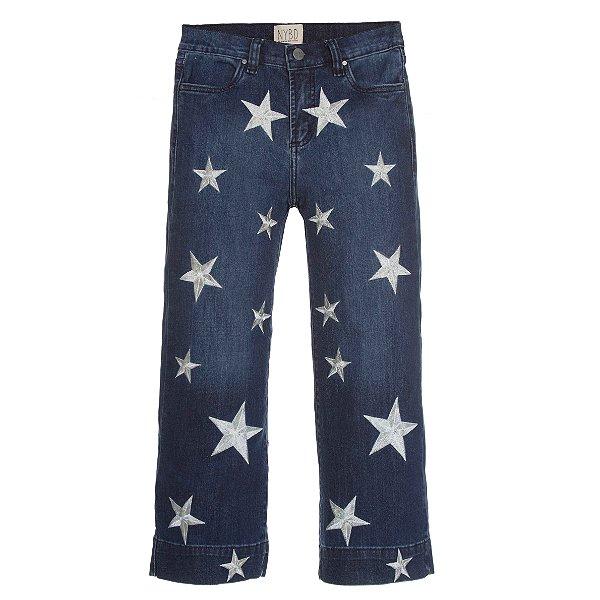 Calça Pantacourt Estrelas