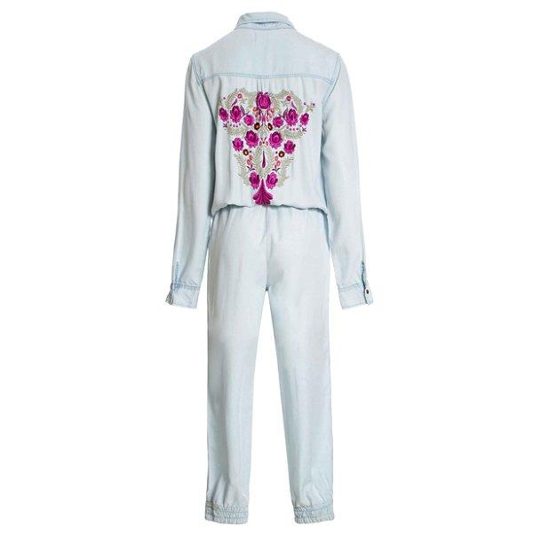 Macacão Pijama Floral Costas