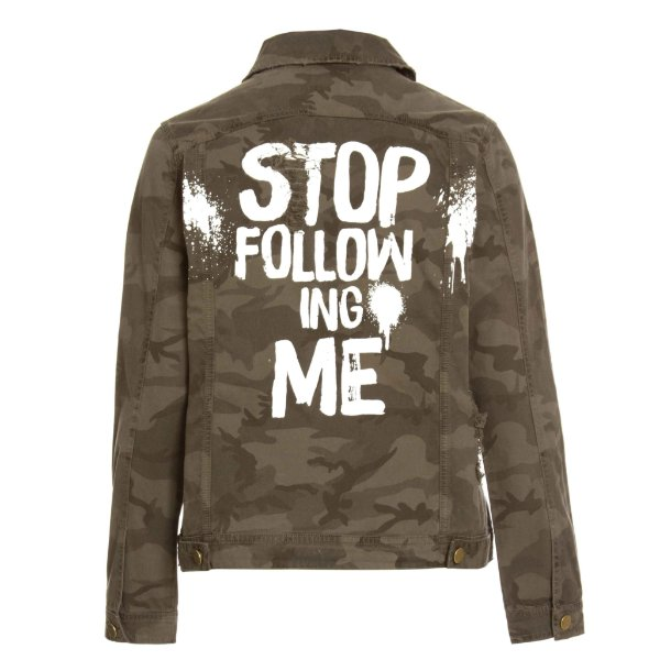Jaqueta Camuflada Stop Following Me