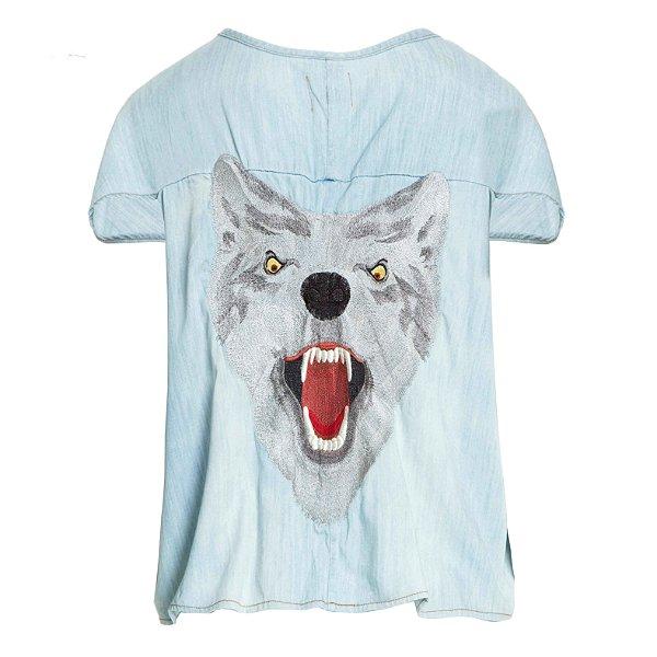 Blusa Cropped Lobo
