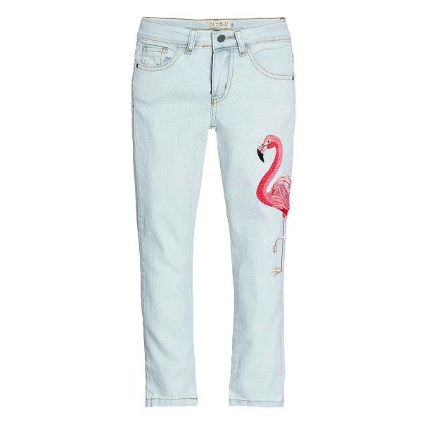 Calça Skinny Flamingo Bambini