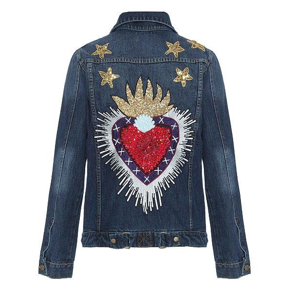 Jaqueta Novo Coração Sagrado com Estrelas