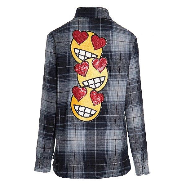 Camisa Xadrez Emoji