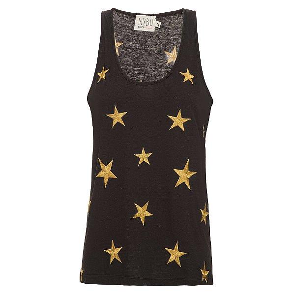 Regata Cozy Preta Estrelas