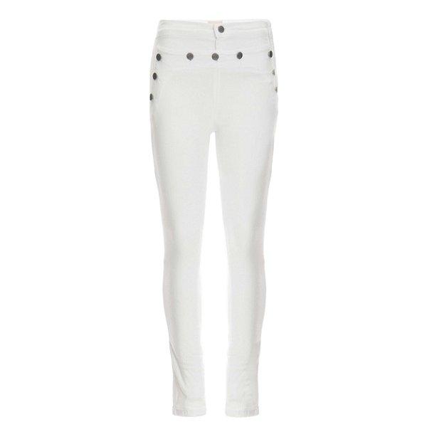 Calça Skinny 10 Botões High Waisted Branca