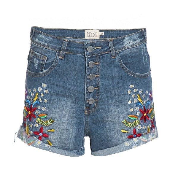 Shorts 5 Botões Florido