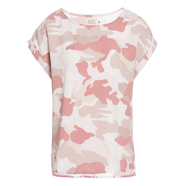 T-Shirt Camuflado Rosa