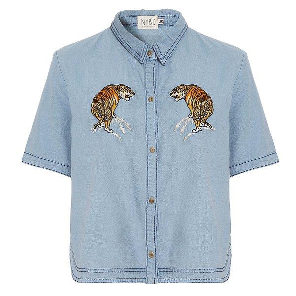 Camisa Cropped Tigre
